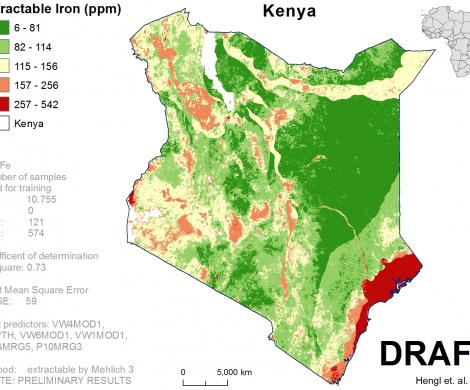 Kenya - extractable Iron
